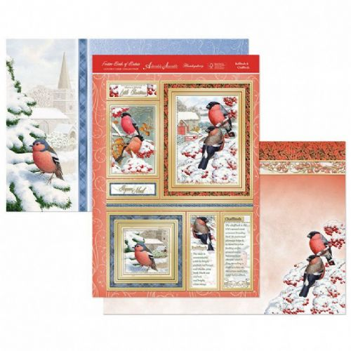 Festive Birds of Britain Topper Set - Bullfinch & Chaffinch